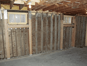 PWF Wall Systems PWF (Preserved Wood Foundation) Interior Reinforcement  Walls To Provide Structural Support.