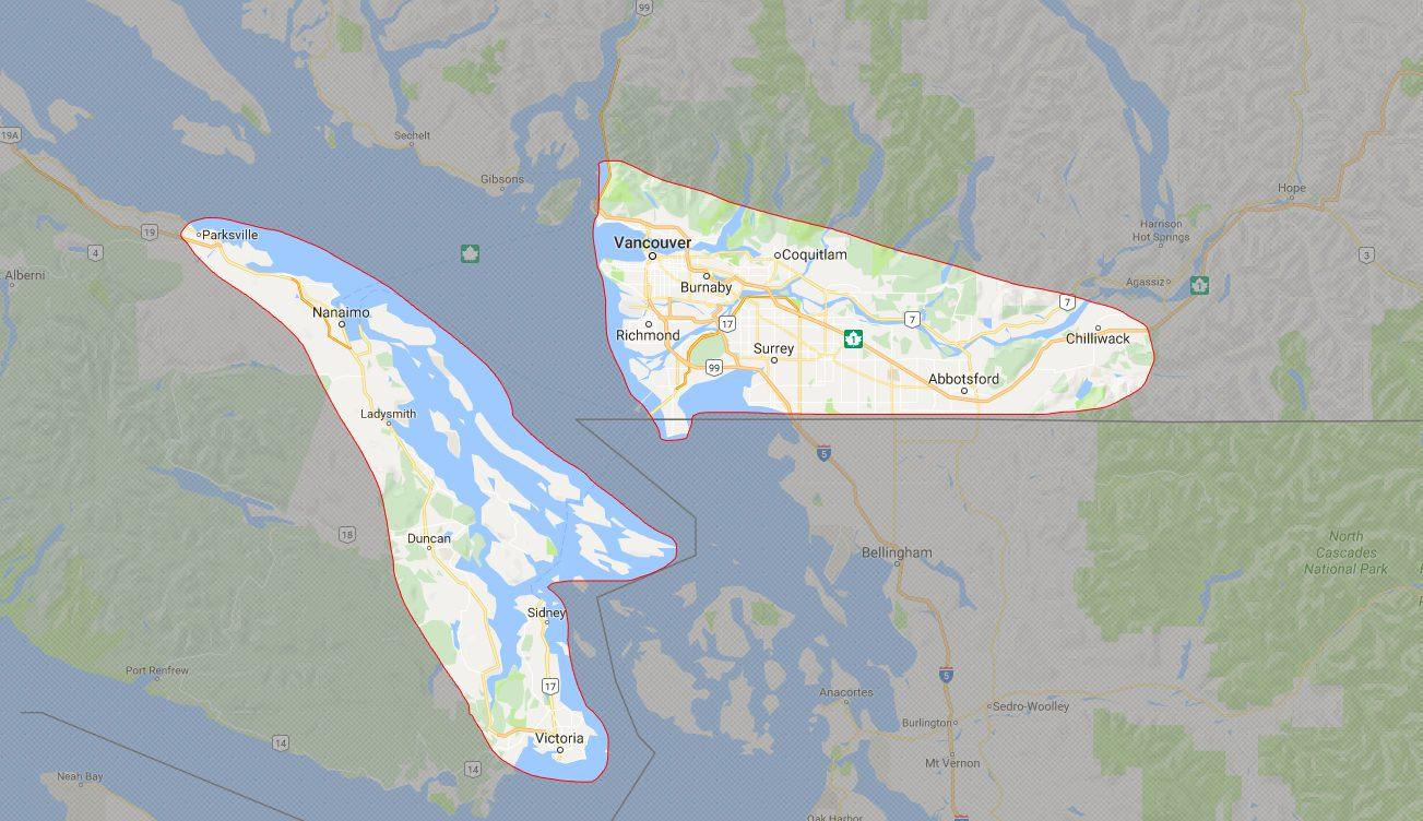 Vancouver regions